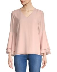 Premise Studio - Layered Bell-sleeve Blouse - Lyst