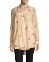 Tularosa - Blythe Floral Silk-blend High-low Tunic Top - Lyst