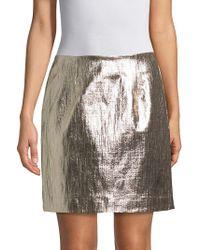 WHIT - Tate Metallic Tweed Mini Skirt - Lyst
