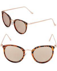 Fantaseyes - Mirrored 48mm Wayfarer Sunglasses - Lyst