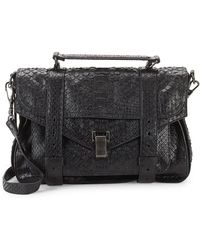 Proenza Schouler - Croc-embossed Leather Briefcase - Lyst