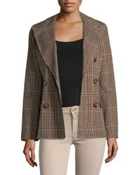 Tracy Reese - Double Breasted Plaid Blazer - Lyst