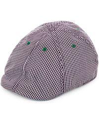Robert Graham - Embroidered & Check Duckbill Cap - Lyst