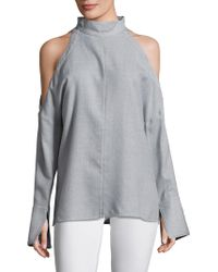 Tibi - Winston Cold -shoulder Wool Top - Lyst
