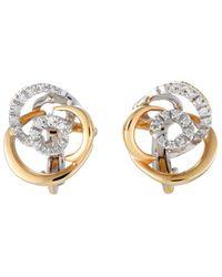 Damiani - 18k Two-tone 0.18 Ct. Tw. Diamond Earrings - Lyst
