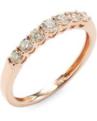 Vendoro - 14k Rose Gold Diamond Band Ring - Lyst