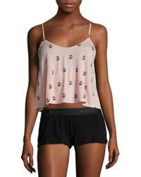 Wildfox - French Press Strappy Crop Camisole - Lyst