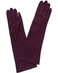 Portolano - Suede Aubergine Gloves - Lyst