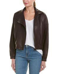 Vince - Asymmetric Leather Jacket - Lyst