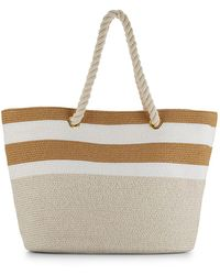 Saks Fifth Avenue - Large Straw Tote Bag - Lyst
