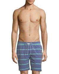 Onia - Stripe Swim Short - Lyst
