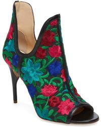 Jerome C. Rousseau - Jujo Embroidered Peep-toe Bootie - Lyst