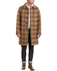 Burberry Vintage Check Alpaca & Wool-blend Car Coat - Brown