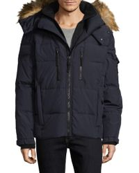 Sam. - Tundra Faux Fur-trimmed Quilted Puffer Jacket - Lyst