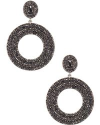 Bavna - Sterling Silver Earring With Black Spinel - Lyst