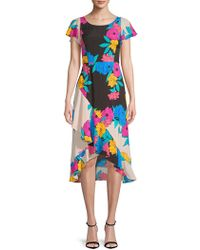Plenty by Tracy Reese - Floral-print Ruffled Dress - Lyst