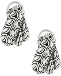 John Hardy - Padi Silver Overlap Earrings - Lyst