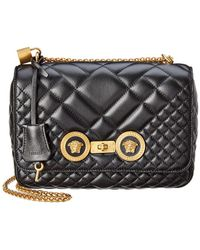 676e34cdca93 Versace - Icon Medium Quilted Leather Shoulder Bag - Lyst