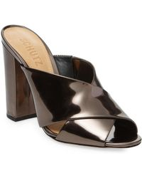 Schutz - Maisie Leather High Heel Sandal - Lyst