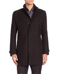 Strellson - Noar Wool Blend Coat - Lyst