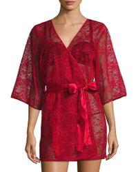 "Blush Lingerie - 33"" Mesh Lace Kimono - Lyst"