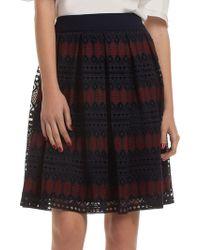 Trina Turk - Leland Mesh Knee-length Skirt - Lyst