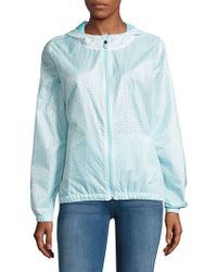 Nanette Lepore | Water-resistant Floral Cutout Hooded Jacket | Lyst