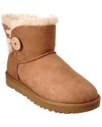 UGG - Mini Bailey Button Ii Water-resistant Twinface Sheepskin Boot - Lyst
