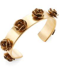 Marc Jacobs - Flower Delicate Cuff Bracelet - Lyst