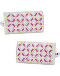 Ox and Bull Trading Co. - Floral Rectangular Cufflinks - Lyst