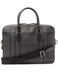 Burberry - Small Leather-trim Satchel - Lyst