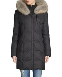 SOIA & KYO - Coyote Fur-trimmed Puffer Coat - Lyst