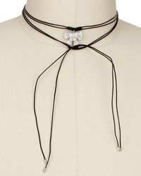 Saachi - Bow Tie Wrap 40in Choker Necklace - Lyst