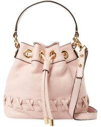 MILLY - Astor Whipstitch Small Leather Bucket Bag - Lyst
