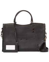 Balenciaga - Blackout City Small Leather Shoulder Bag - Lyst