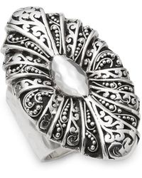 Lois Hill - Oval Cutout Sterling Silver Ring - Lyst