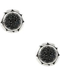 John Hardy - Kali Black Sapphire Round Stud Earrings - Lyst