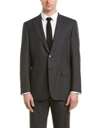 Brioni 2pc Wool Suit With Flat Front Pant - Multicolor