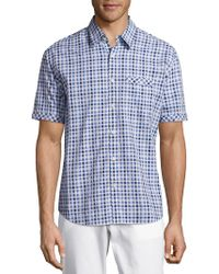 James Campbell - Checked Cotton Shirt - Lyst