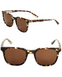 Bottega Veneta | 61mm Tortoise Shell Square Sunglasses | Lyst