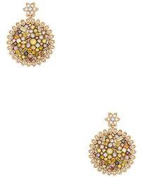 Plevé | Cinnamon Sunflower 18k Yellow Gold Drop Earrings | Lyst