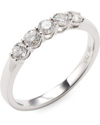 Vendoro - 18k White Gold Diamond Band Ring - Lyst