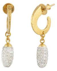 Gurhan - Cocoon 24k & Silver 1.76 Ct. Tw. Diamond Drop Earrings - Lyst