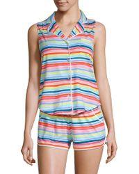 Jane And Bleecker - Two-piece Cotton-blend Pyjamas - Lyst