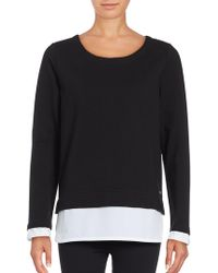 Andrew Marc - Mock Layer Pullover - Lyst