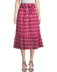 Banjanan - Cass Printed Midi Skirt - Lyst