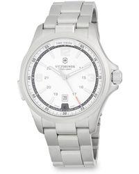 Victorinox - Night Vision Stainless Steel Bracelet Watch - Lyst