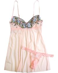 Hanky Panky - Floral Embroidered Babydoll - Lyst