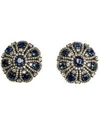 Arthur Marder Fine Jewelry - Silver 7.50 Ct. Tw. Diamond & Sapphire Earrings - Lyst