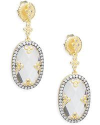 Freida Rothman - Mirror Mirror Sterling Silver Drop Earrings - Lyst
